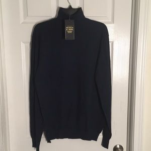 NWT Scotch & Soda Navy Melange Turtleneck Sweater
